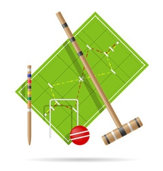 croquet playground vector image