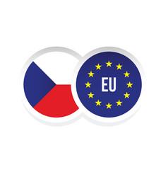 czech republic european union badge vector image
