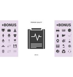 electrocardiogram symbol icon - graphic elements vector image