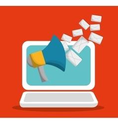 Envelope laptop email marketing send design vector