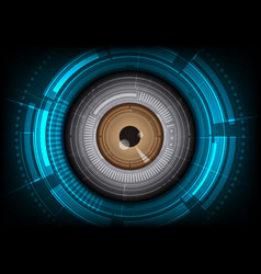 eyeball with hitech background vector image