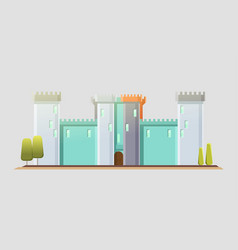 fairy-tale castle flat child vector image