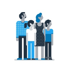 Family members standing together parents children vector image