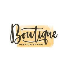 Fashion boutique logo premium vector