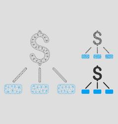 Financial hierarchy mesh wire frame model vector