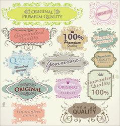 Floral frames premium quality vector