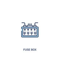 Fuse box concept 2 colored icon simple line vector