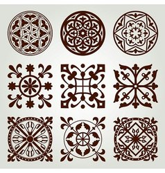 gothic style elements vector image vector image