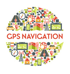 gps navigation and maps location and cartography vector image