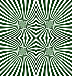 Green striped symmetric ray pattern vector image