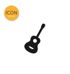 guitar icon isolated flat style vector image
