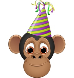 Head chimpanzee in a cap vector image