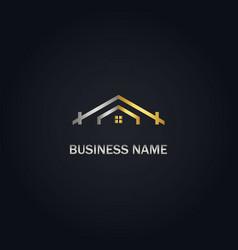 house rogold logo vector image