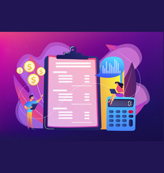 income statement concept vector image
