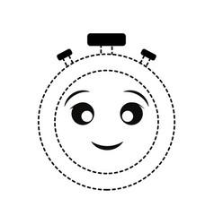kawaii chronometer design vector image