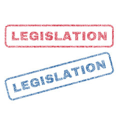 Legislation textile stamps vector