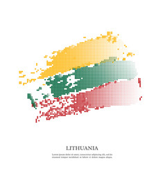 lithuania flag with halftone effect vector image