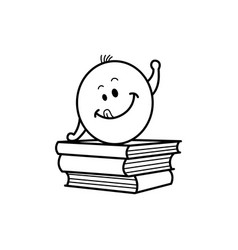 male smiley face emoticon textbook vector image