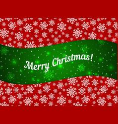 Merry Christmas theme banner witn snowflake vector