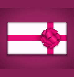 modern gift box with bow ribbon vector image