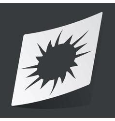 Monochrome starburst sticker vector
