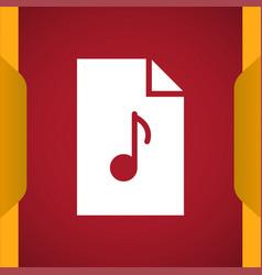 Mp3 music file icon vector