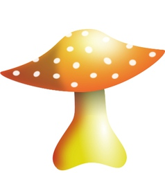 Mushroom with white dots vector image