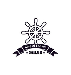 Nautical seafarer marine sea sailor icons vector