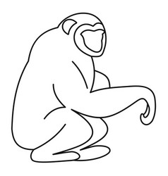 Orangutan icon outline style vector