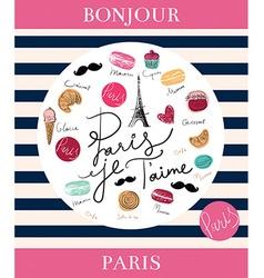 Paris background design vector