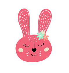 Pink easter bunny easter rabbitdesign for easter vector