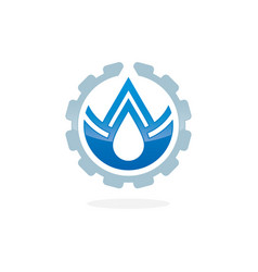 Plumbing service concept with water drop vector