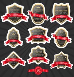 Premium quality label set 2 vector