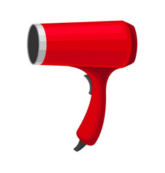 Red hair dryer on a white vector