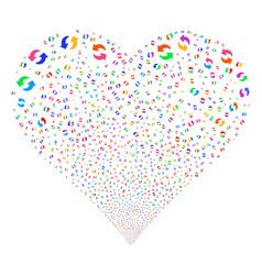 Refresh fireworks heart vector