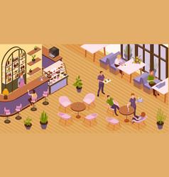 Restaurant isometric vector