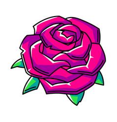 rose colorful cute cartoon icon vector image
