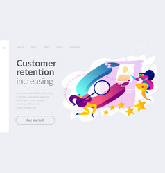 Satisfaction and loyalty analysis landing page vector