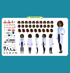 Scientist character creation setblack woman vector