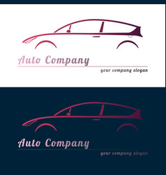 Set of red auto service logos vector
