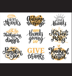 set with lettering vector image