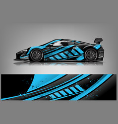 Sport car racing wrap design design vector
