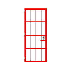 stock isolated prison red door jail vector image