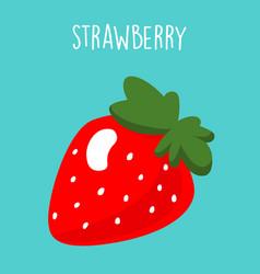 Strawberry banana smoothie recipe vector