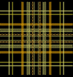 tartan embroidery colorful seamless pattern vector image