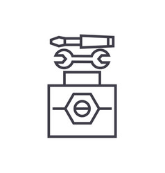 technical tools concept thin line icon vector image