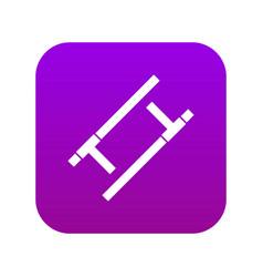 Tonfa icon digital purple vector
