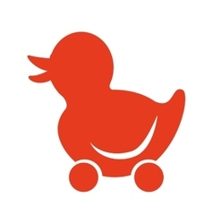 Toy baby silhouette icon vector