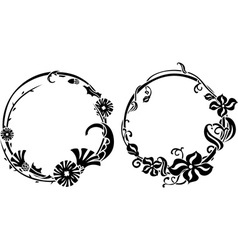 Two black wreath vector