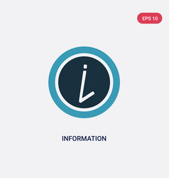 two color information icon from user interface vector image